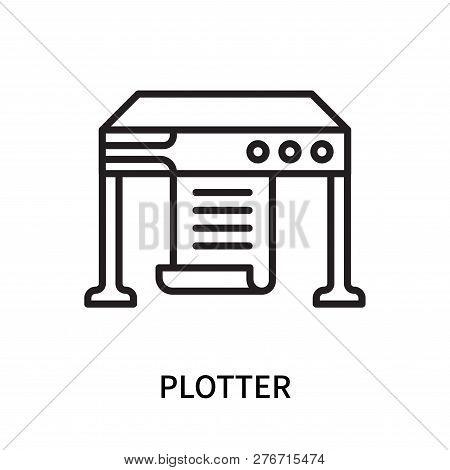 Plotter Icon Isolated On White Background. Plotter Icon Simple Sign. Plotter Icon Trendy And Modern
