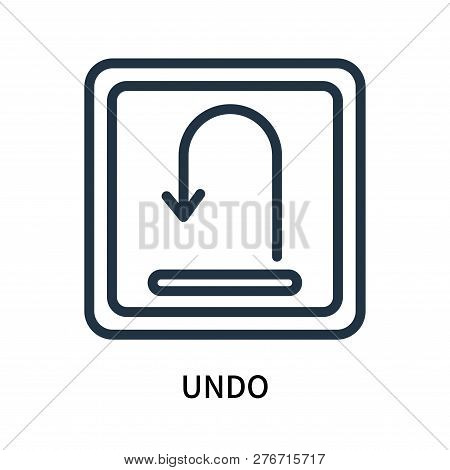 Undo Icon Isolated On White Background. Undo Icon Simple Sign. Undo Icon Trendy And Modern Symbol Fo