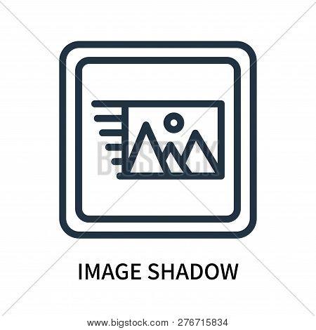 Image Shadow Icon Isolated On White Background. Image Shadow Icon Simple Sign. Image Shadow Icon Tre