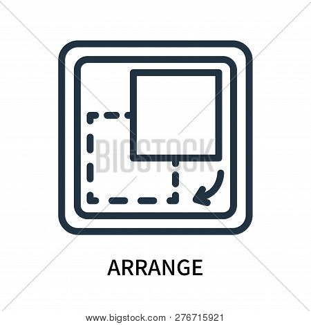 Arrange Icon Isolated On White Background. Arrange Icon Simple Sign. Arrange Icon Trendy And Modern
