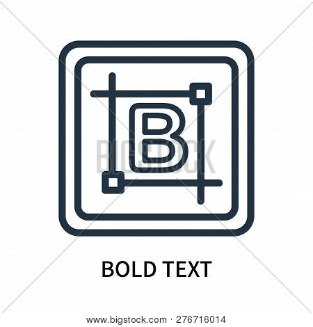 Bold Text Icon Isolated On White Background. Bold Text Icon Simple Sign. Bold Text Icon Trendy And M