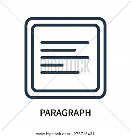 Paragraph Icon Isolated On White Background. Paragraph Icon Simple Sign. Paragraph Icon Trendy And M