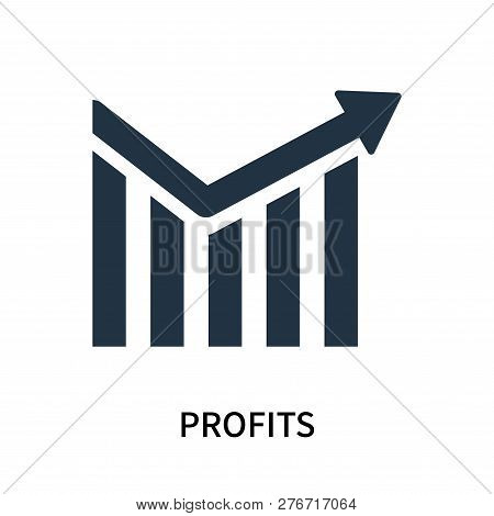 Profits Icon Isolated On White Background. Profits Icon Simple Sign. Profits Icon Trendy And Modern