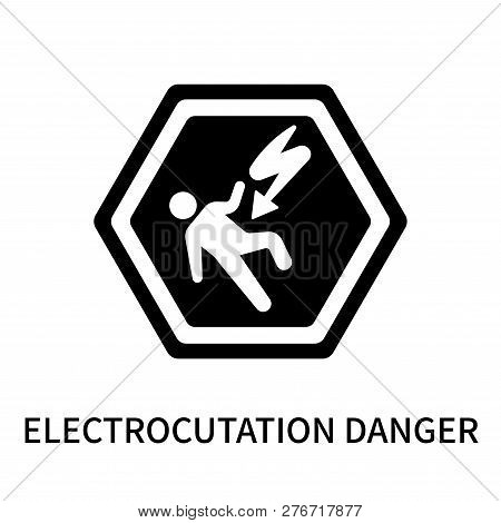 Electrocutation Danger Icon Isolated On White Background. Electrocutation Danger Icon Simple Sign. E