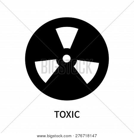 Toxic Icon Isolated On White Background. Toxic Icon Simple Sign. Toxic Icon Trendy And Modern Symbol