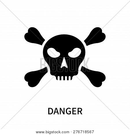 Danger Icon Isolated On White Background. Danger Icon Simple Sign. Danger Icon Trendy And Modern Sym