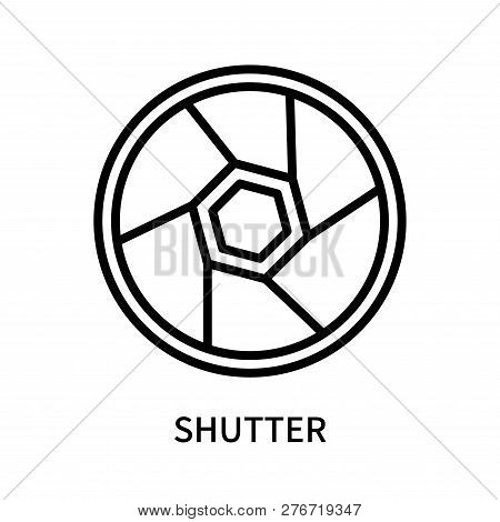 Shutter Icon Isolated On White Background. Shutter Icon Simple Sign. Shutter Icon Trendy And Modern