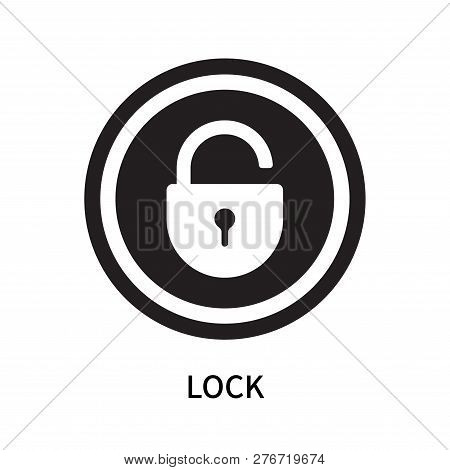Lock Icon Isolated On White Background. Lock Icon Simple Sign. Lock Icon Trendy And Modern Symbol Fo