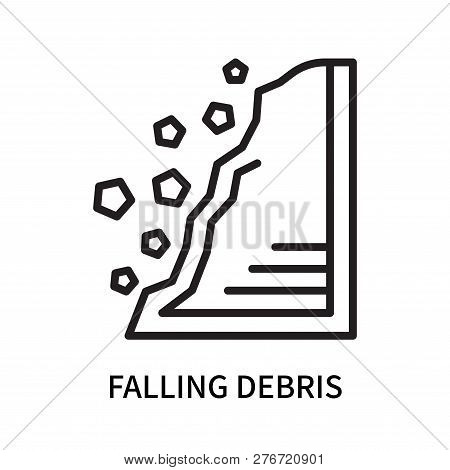 Falling Debris Icon Isolated On White Background. Falling Debris Icon Simple Sign. Falling Debris Ic