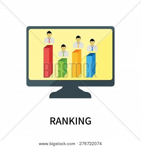 Ranking Icon Isolated On White Background. Ranking Icon Simple Sign. Ranking Icon Trendy And Modern
