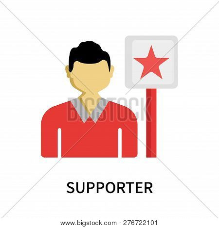 Supporter Icon Isolated On White Background. Supporter Icon Simple Sign. Supporter Icon Trendy And M
