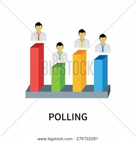 Polling Icon Isolated On White Background. Polling Icon Simple Sign. Polling Icon Trendy And Modern