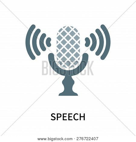 Speech Icon Isolated On White Background. Speech Icon Simple Sign. Speech Icon Trendy And Modern Sym