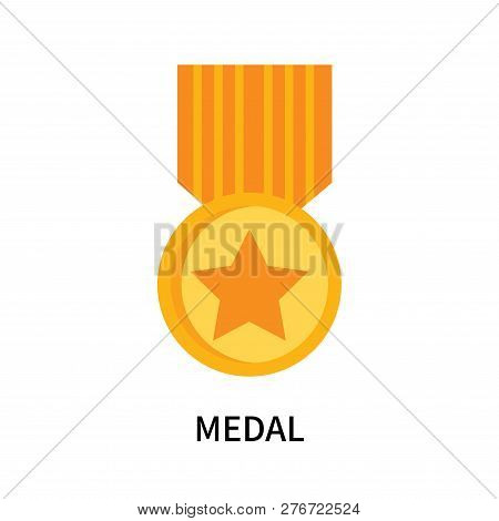 Medal Icon Isolated On White Background. Medal Icon Simple Sign. Medal Icon Trendy And Modern Symbol