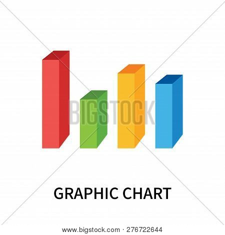Graphic Chart Icon Isolated On White Background. Graphic Chart Icon Simple Sign. Graphic Chart Icon