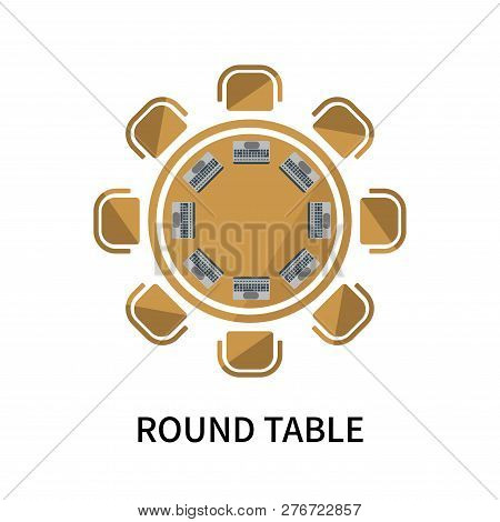 Round Table Icon Isolated On White Background. Round Table Icon Simple Sign. Round Table Icon Trendy