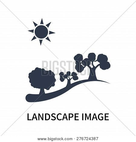 Landscape Image Icon Isolated On White Background. Landscape Image Icon Simple Sign. Landscape Image