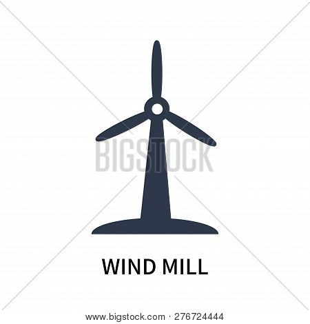 Wind Mill Icon Isolated On White Background. Wind Mill Icon Simple Sign. Wind Mill Icon Trendy And M