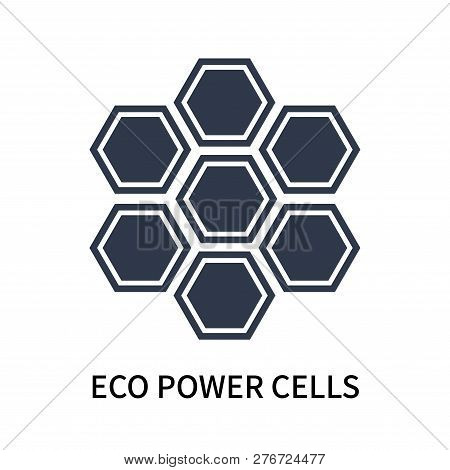 Eco Power Cells Icon Isolated On White Background. Eco Power Cells Icon Simple Sign. Eco Power Cells