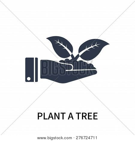 Plant A Tree Icon Isolated On White Background. Plant A Tree Icon Simple Sign. Plant A Tree Icon Tre