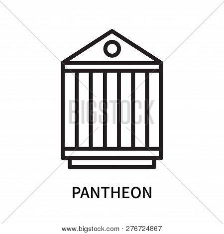 Pantheon Icon Isolated On White Background. Pantheon Icon Simple Sign. Pantheon Icon Trendy And Mode