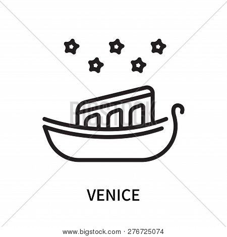 Venice Icon Isolated On White Background. Venice Icon Simple Sign. Venice Icon Trendy And Modern Sym
