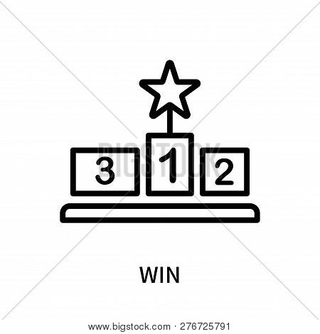 Win Icon Isolated On White Background. Win Icon Simple Sign. Win Icon Trendy And Modern Symbol For G