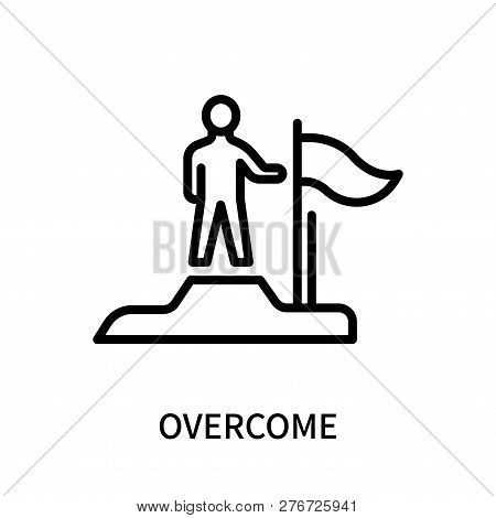 Overcome Icon Isolated On White Background. Overcome Icon Simple Sign. Overcome Icon Trendy And Mode