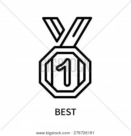 Best Icon Isolated On White Background. Best Icon Simple Sign. Best Icon Trendy And Modern Symbol Fo