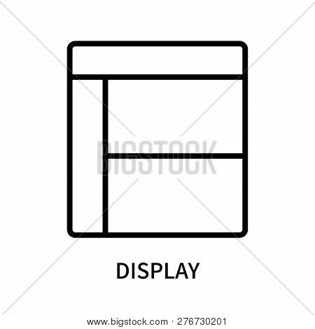 Display Icon Isolated On White Background. Display Icon Simple Sign. Display Icon Trendy And Modern