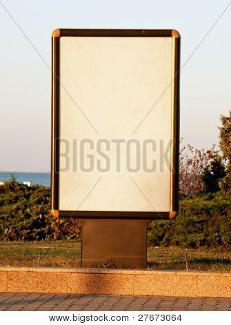Vertical blank billboard