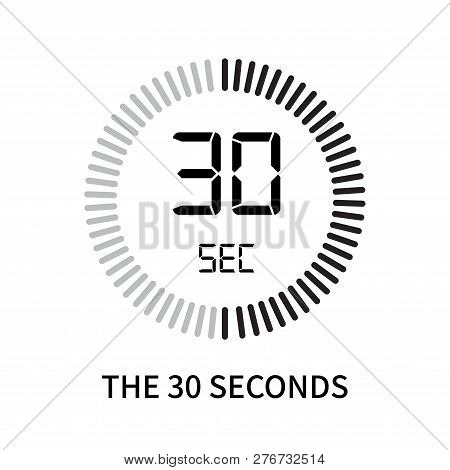The 30 Seconds Icon Isolated On White Background. The 30 Seconds Icon Simple Sign. The 30 Seconds Ic