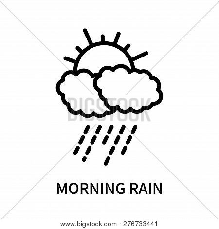 Morning Rain Icon Isolated On White Background. Morning Rain Icon Simple Sign. Morning Rain Icon Tre