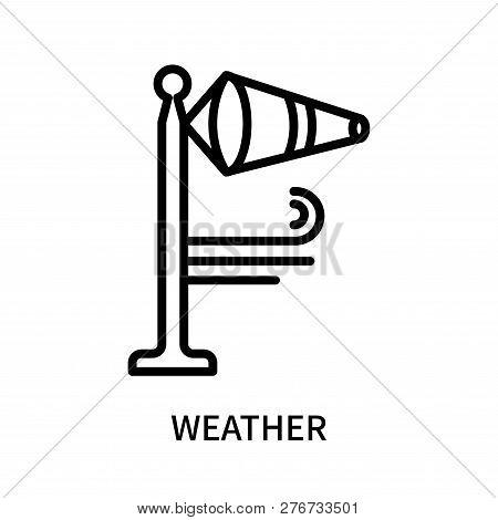 Weather Icon Isolated On White Background. Weather Icon Simple Sign. Weather Icon Trendy And Modern
