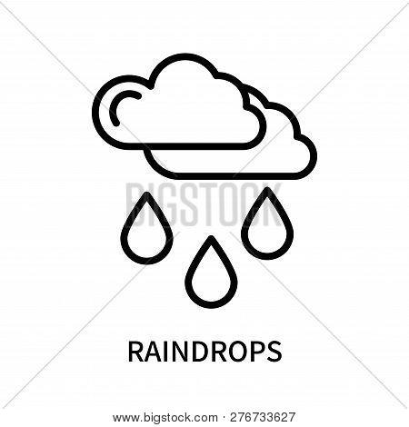 Raindrops Icon Isolated On White Background. Raindrops Icon Simple Sign. Raindrops Icon Trendy And M