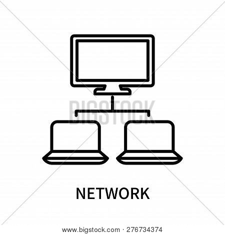 Network Icon Isolated On White Background. Network Icon Simple Sign. Network Icon Trendy And Modern