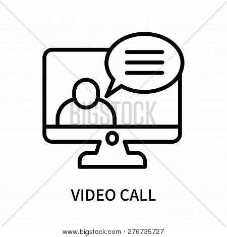 Video Call Icon Isolated On White Background. Video Call Icon Simple Sign. Video Call Icon Trendy An