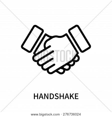 Handshake Icon Isolated On White Background. Handshake Icon Simple Sign. Handshake Icon Trendy And M