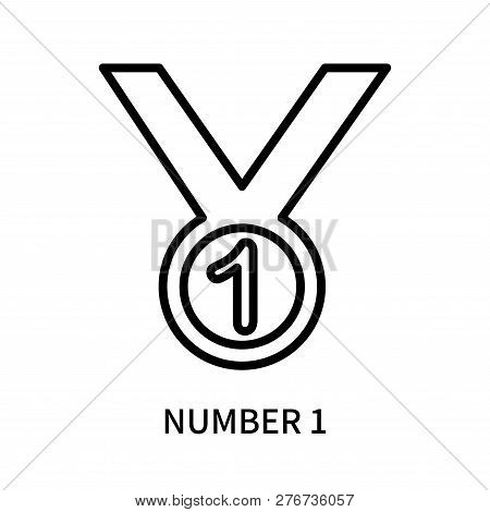 Number 1 Icon Isolated On White Background. Number 1 Icon Simple Sign. Number 1 Icon Trendy And Mode