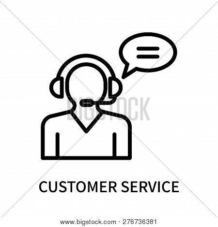 Customer Service Icon Isolated On White Background. Customer Service Icon Simple Sign. Customer Serv