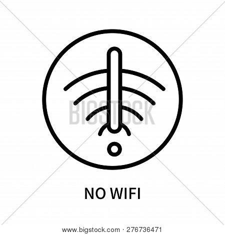No Wifi Icon Isolated On White Background. No Wifi Icon Simple Sign. No Wifi Icon Trendy And Modern