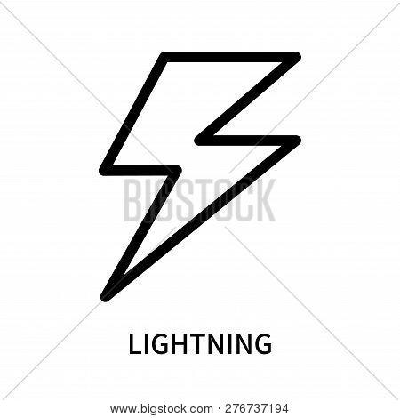 Lightning Icon Isolated On White Background. Lightning Icon Simple Sign. Lightning Icon Trendy And M