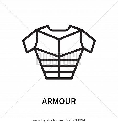 Armour Icon Isolated On White Background. Armour Icon Simple Sign. Armour Icon Trendy And Modern Sym