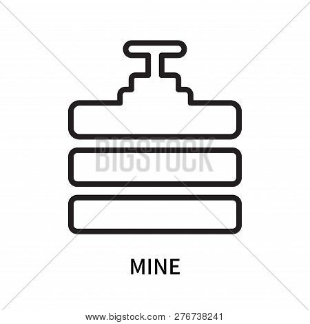 Mine Icon Isolated On White Background. Mine Icon Simple Sign. Mine Icon Trendy And Modern Symbol Fo