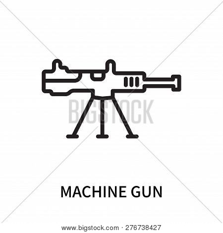 Machine Gun Icon Isolated On White Background. Machine Gun Icon Simple Sign. Machine Gun Icon Trendy