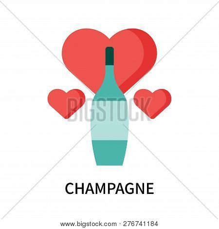 Champagne Icon Isolated On White Background. Champagne Icon Simple Sign. Champagne Icon Trendy And M