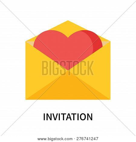 Invitation Icon Isolated On White Background. Invitation Icon Simple Sign. Invitation Icon Trendy An