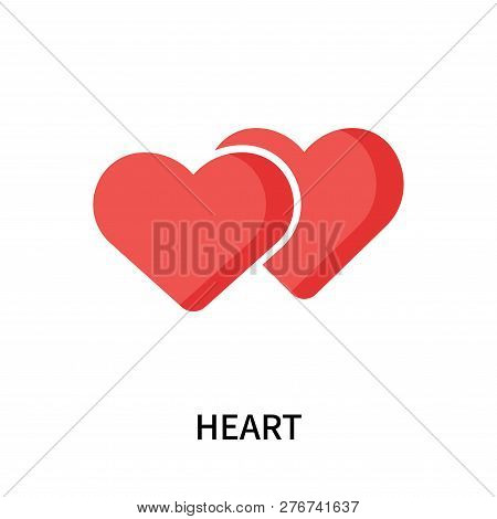 Heart Icon Isolated On White Background. Heart Icon Simple Sign. Heart Icon Trendy And Modern Symbol