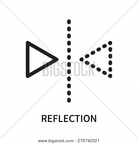 Reflection Icon Isolated On White Background. Reflection Icon Simple Sign. Reflection Icon Trendy An