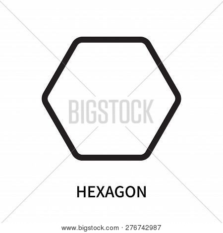 Hexagon Icon Isolated On White Background. Hexagon Icon Simple Sign. Hexagon Icon Trendy And Modern